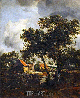 The Water Mill, 1692 | Meindert Hobbema | Painting Reproduction