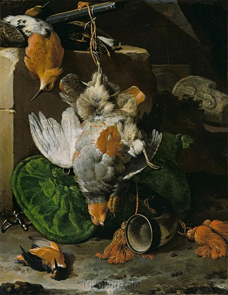 Dead Birds, m.1660s | Melchior d'Hondecoeter | Painting Reproduction