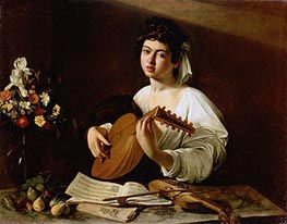 The Lute Player, c.1595 by Caravaggio | Painting Reproduction