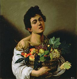 Boy with a Basket of Fruit, c.1593/94 by Caravaggio | Painting Reproduction
