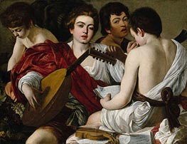 The Musicians (Concert), c.1594/95 by Caravaggio | Painting Reproduction