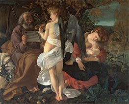 The Rest on the Flight into Egypt, c.1595 by Caravaggio | Painting Reproduction