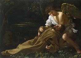 Saint Francis of Assisi in Ecstasy | Caravaggio | Painting Reproduction