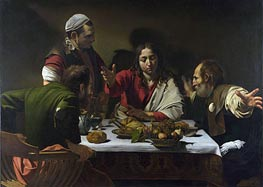 The Supper at Emmaus, 1601 by Caravaggio | Painting Reproduction