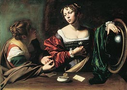 The Conversion of Mary Magdalen, c.1597/98 by Caravaggio | Painting Reproduction