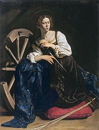 Saint Catherine of Alexandria | Caravaggio | Painting Reproduction