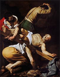 The Crucifixion of Saint Peter, c.1600/01 by Caravaggio | Painting Reproduction