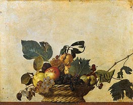 Basket of Fruit, c.1597/00 von Caravaggio | Gemälde-Reproduktion