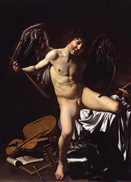 Amor Victorious (Cupid), 1602 by Caravaggio | Painting Reproduction
