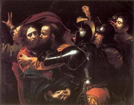 The Betrayal of Christ (Taking of Christ), 1602 von Caravaggio | Gemälde-Reproduktion
