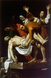 The Entombment (Deposition), c.1602/04 by Caravaggio | Painting Reproduction