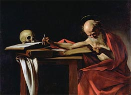 Saint Jerome Writing | Caravaggio | Painting Reproduction