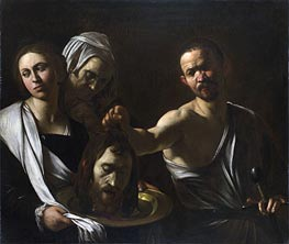 Salome Receives the Head of John the Baptist | Caravaggio | Painting Reproduction