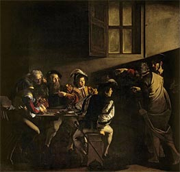 The Calling of Saint Matthew | Caravaggio | Painting Reproduction