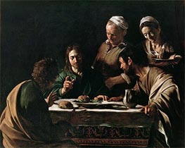 Supper at Emmaus | Caravaggio | Painting Reproduction