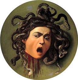 Head of Medusa, c.1596/98 by Caravaggio | Painting Reproduction