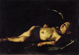 Sleeping Cupid | Caravaggio | Painting Reproduction