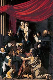 Madonna del Rosario, 1607 by Caravaggio | Painting Reproduction