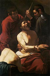Christ Crowning with Thorns, c.1602/05 by Caravaggio | Painting Reproduction