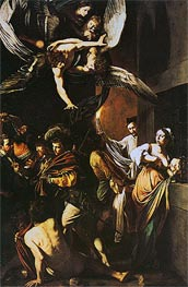 The Seven Acts of Mercy, 1606 by Caravaggio | Painting Reproduction