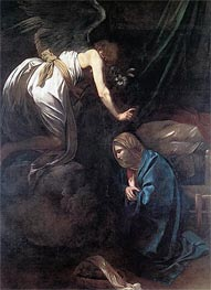 The Annunciation, c.1608/10 by Caravaggio | Painting Reproduction