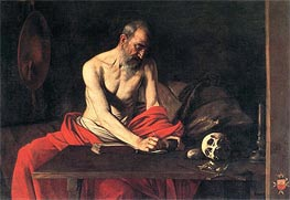 Saint Jerome Writing, c.1607 by Caravaggio | Painting Reproduction