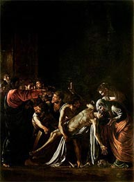 Resurrection of Lazarus, c.1608/09 by Caravaggio | Painting Reproduction
