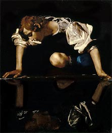 Narcissus, c.1608/10 by Caravaggio | Painting Reproduction