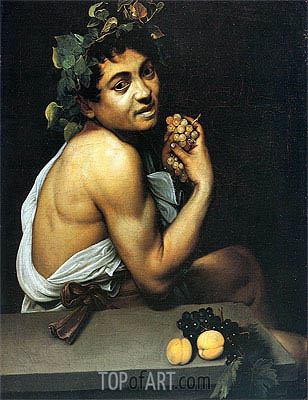 Sick Bacchus (Self-Portrait as Bacchus), c.1592/93 | Caravaggio | Painting Reproduction