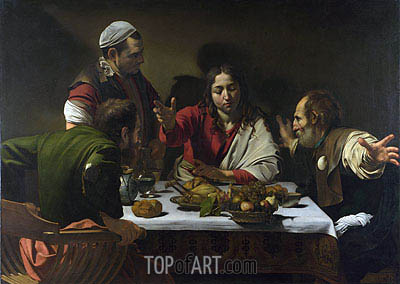 The Supper at Emmaus, 1601 | Caravaggio | Painting Reproduction