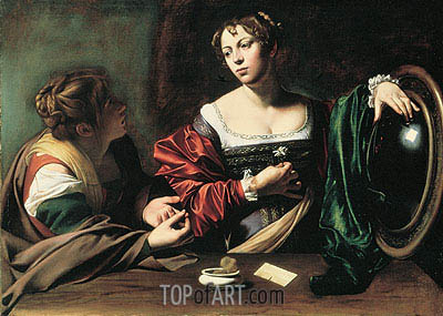 The Conversion of Mary Magdalen, c.1597/98 | Caravaggio | Painting Reproduction
