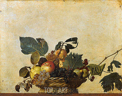 Basket of Fruit, c.1596/97 | Caravaggio | Painting Reproduction