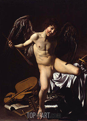 Amor Victorious (Cupid), 1602 | Caravaggio | Painting Reproduction
