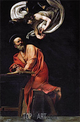 Saint Matthew and the Angel, 1602 | Caravaggio | Gemälde Reproduktion
