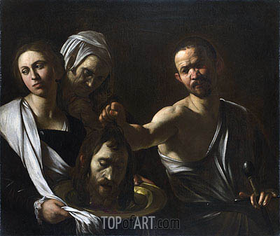Salome Receives the Head of John the Baptist, c.1607/10 | Caravaggio | Painting Reproduction