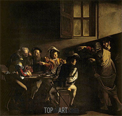 The Calling of Saint Matthew, 1599 | Caravaggio | Painting Reproduction
