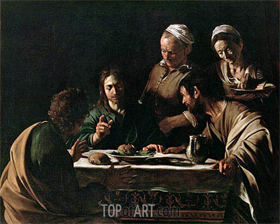 Supper at Emmaus, 1606 | Caravaggio | Painting Reproduction
