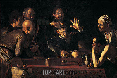 The Tooth Extraction, c.1610 | Caravaggio | Painting Reproduction