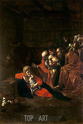 Adoration of the Shepherds, 1609 | Caravaggio | Painting Reproduction