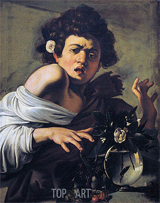 Boy Bitten by a Lizard, c.1595/00 | Caravaggio | Painting Reproduction