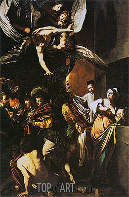 The Seven Acts of Mercy, 1606   Caravaggio   Gemälde Reproduktion