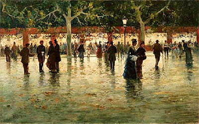 Evening Stroll in Palermo, 1912 | Michele Catti | Painting Reproduction