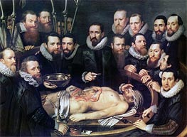 The Anatomy Lesson of Doctor Willem van der Meer in Delft, Undated von Michiel Jansz Miereveld | Gemälde-Reproduktion