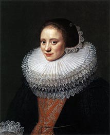 Portrait of a Woman, 1628 von Michiel Jansz Miereveld | Gemälde-Reproduktion