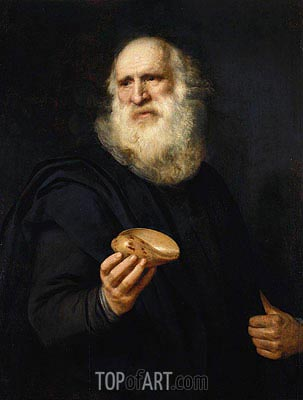 A Bearded Old Man with a Shell, c.1606 | Michiel Jansz Miereveld | Painting Reproduction
