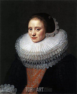 Portrait of a Woman, 1628 | Michiel Jansz Miereveld | Painting Reproduction
