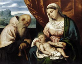 Madonna and Child with St Anthony | Moretto da Brescia | Gemälde Reproduktion
