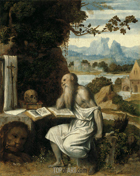 Saint Jerome, c.1525 | Moretto da Brescia | Painting Reproduction