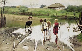 Ford, 1901 by Mykola Pymonenko | Painting Reproduction