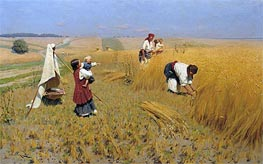 Harvest in Ukraine, 1896 by Mykola Pymonenko | Painting Reproduction